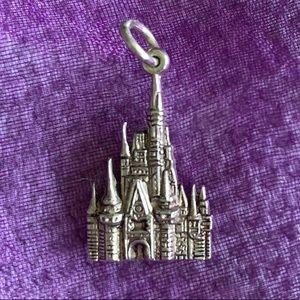 Silver Disney castle charm